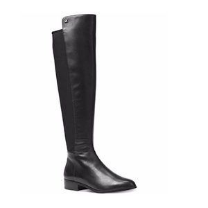 Michael Kors Bromley Black Leather Riding Boots